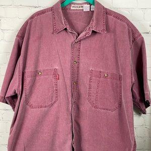 Bugle Boy Short Sleeve Button Up Shirt Size XL